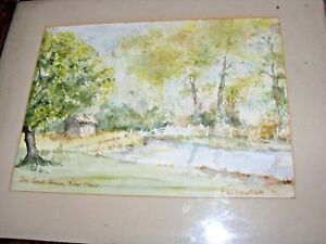 VINTAGe-WATERCOLOUR-PAINTING-OF-THE-BOATHOUSE-THE-RIVER-NENE-BY-A-M-WESTCOTT