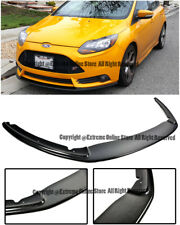Matte Black PP Replacement Bodykit Air Dam Chin Bumper Spoiler Lip With Hardwares By IKON MOTORSPORTS Front Splitter Lip Compatible With 2013-2014 Ford Focus ST