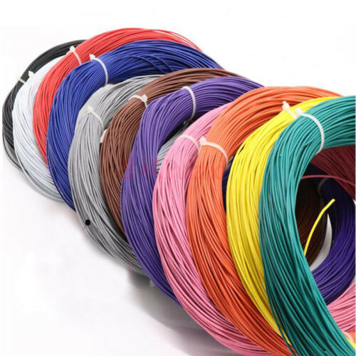 Black Equipment Wire DIY Electrical Wire Flexible Cable UL1015 8//10//12//14~24AWG