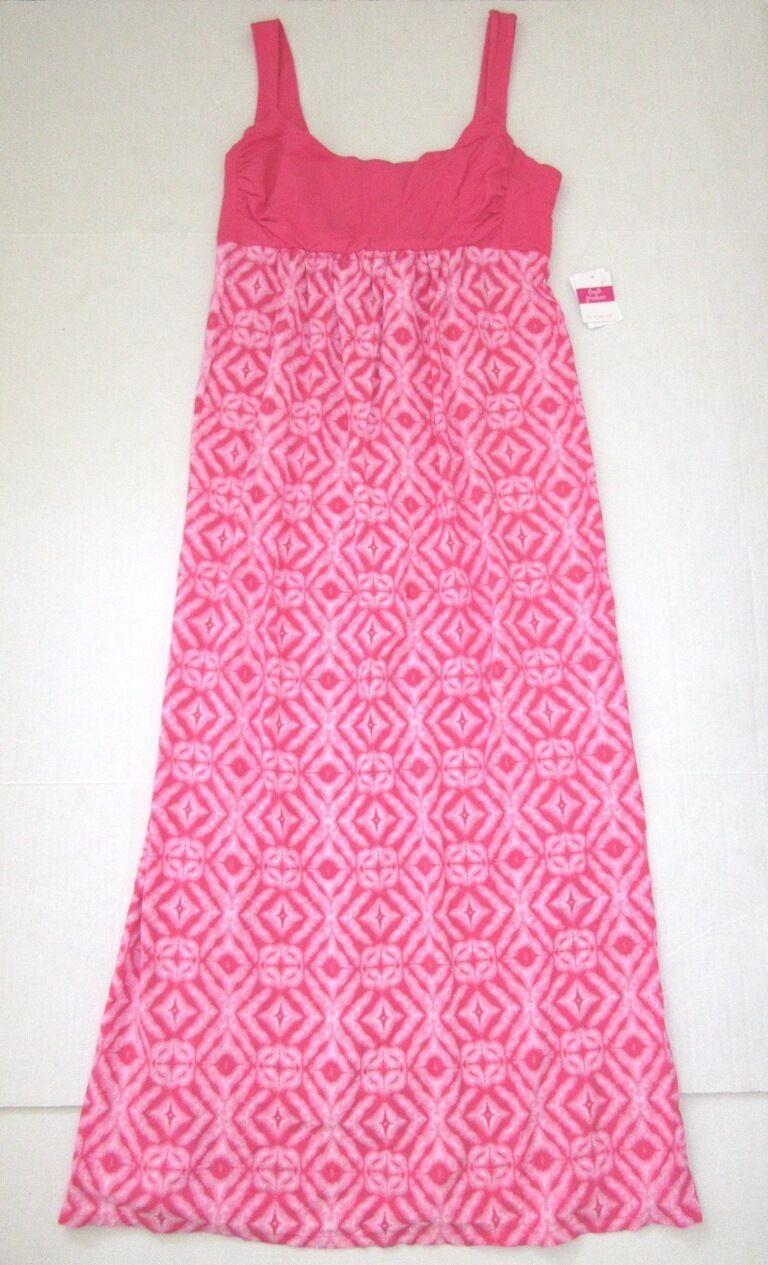 FRESH PRODUCE Extra Large Papaya PINK SHIBORI Malibu Stretch MAXI Dress NWT XL