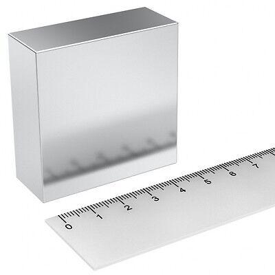 Super Magnete Solido In Neodimio 50x50x20 Mm Potenza 165 Kg Acqua Magnetizzata