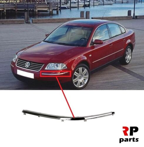 FOR VW PASSAT B5.5 2000-2005 NEW FRONT BUMPER CHROME MOLDING TRIM LEFT N//S
