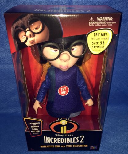 Disney Pixar Talking Incredibles 2 Interactive Edna Voice Recognition 55 Sayings