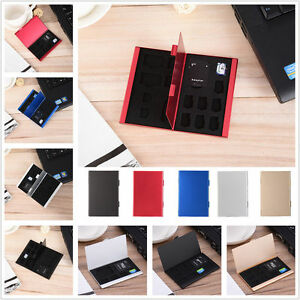 Portable Memory Card Storage Case Protective Holder Box For CF TF SD SIM Card