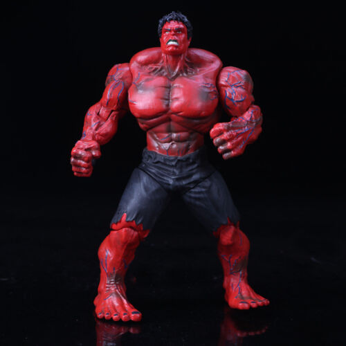 """10/"""" Large Marvel Avengers Hero The Red Hulk Action Statue Figure Collection Toys"""