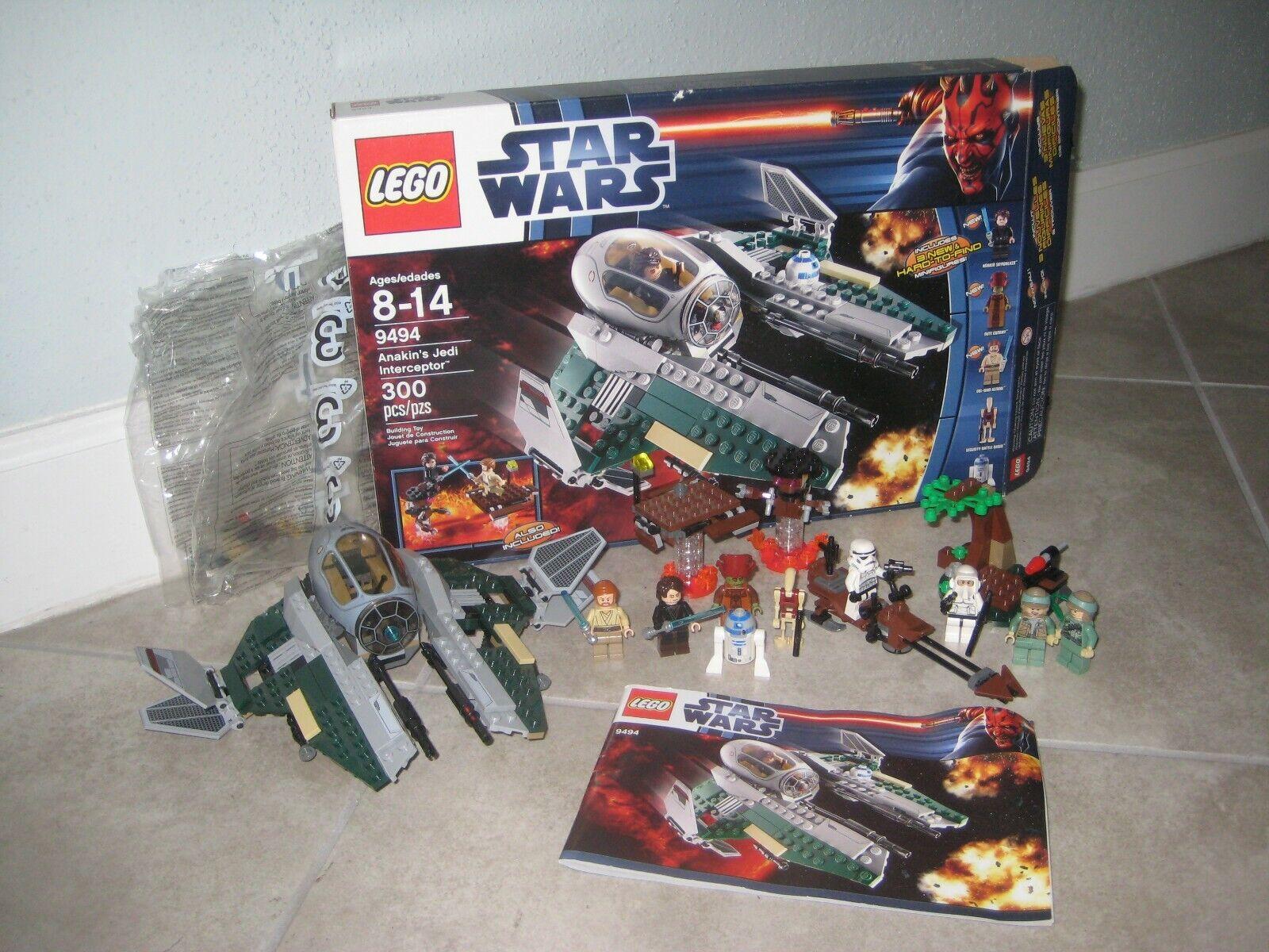 Lego estrella guerras  9494 Anakin Jedi Storm Trooper Minicifra Minifig + 9489 Lot USED  Ritorno di 10 giorni