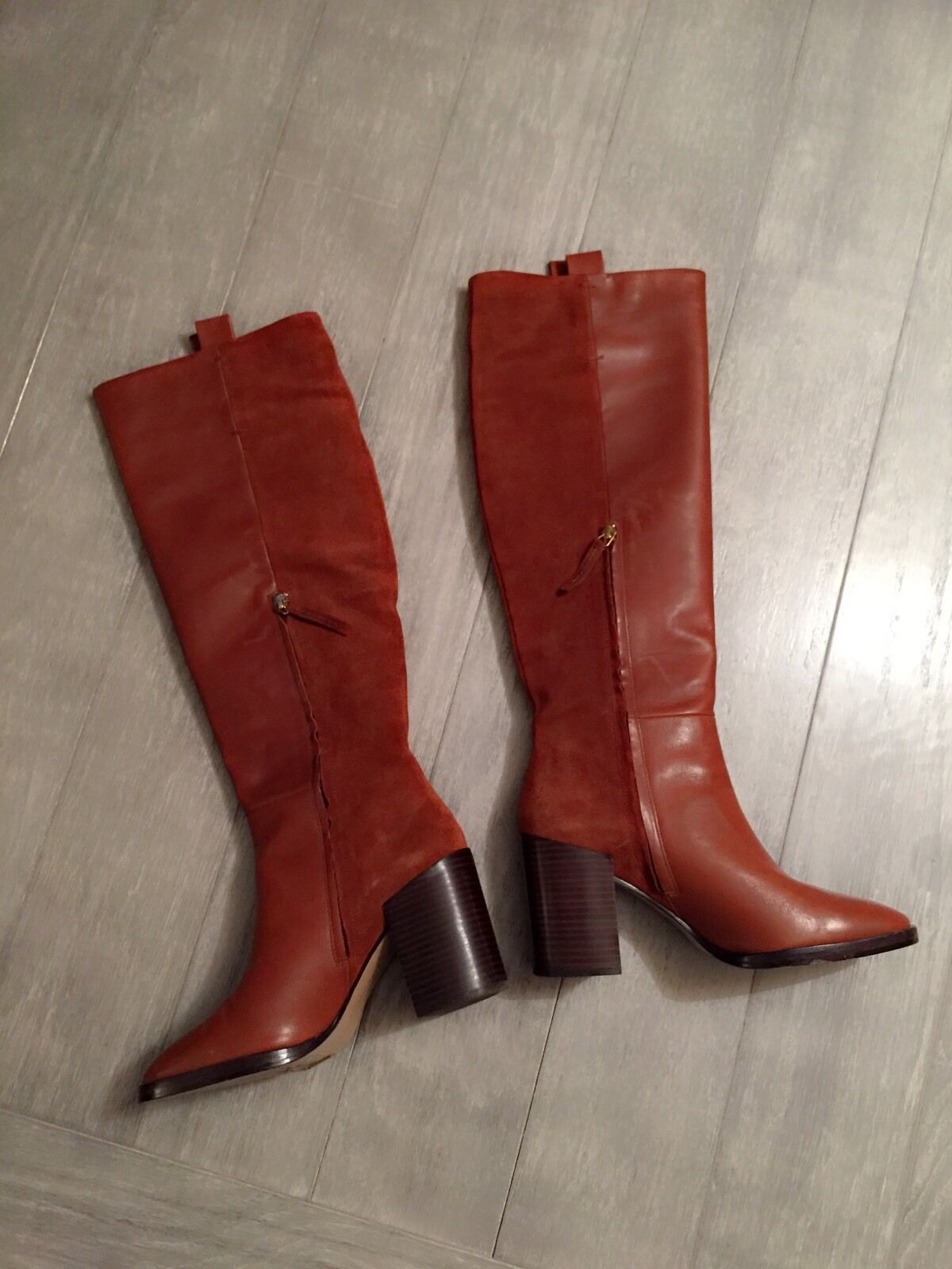 ZARA Women's Women's Women's Tall Boots with zipper(Leather,  US 8 EUR 39) 791cee