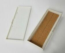 Heathrow Plastic 50 Place Premium Microscope Slide Box Cork White Hs15996c