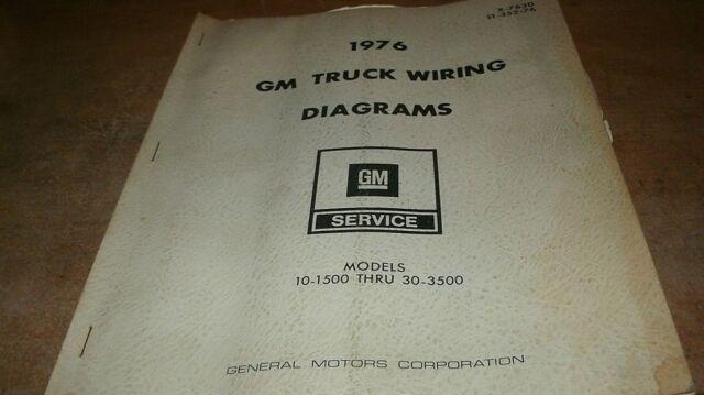 1976 GM GMC CHEVROLET CHEYENNE BLAZER 10 - 1500 30 - 3500 ...