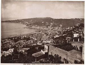 Italia Panorama Napoli Foto Sommer Vintage Albumina Ca 1875