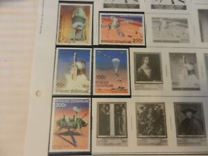 Lot-of-5-Central-African-Republic-Space-Stamps-1976-78-Operation-Viking