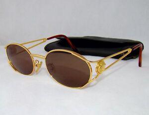 f42c73d1e32f1 Gianni Versace Óculos De Sol G98 Marrom Vintage Homem Mulheres Oval ...