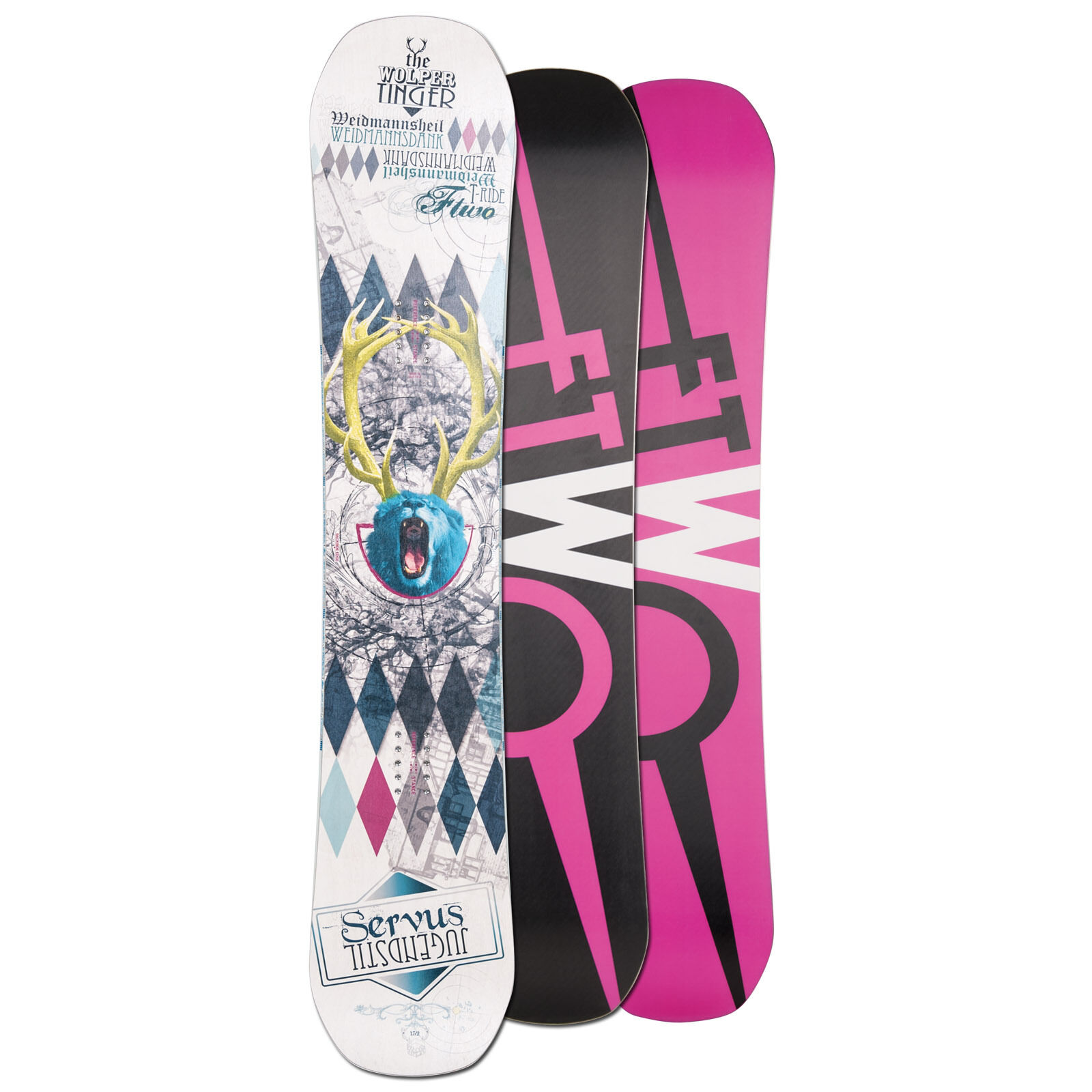 FTWO HERREN FREEESTYLE SNOWBOARD T-RIDE  152 CM CAMBER