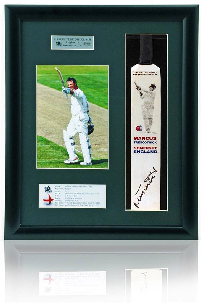 Marcus Trescothick Firmada A Mano Mini Mini Mini Cricket Muerciélago Inglaterra Somerset 15a9b3