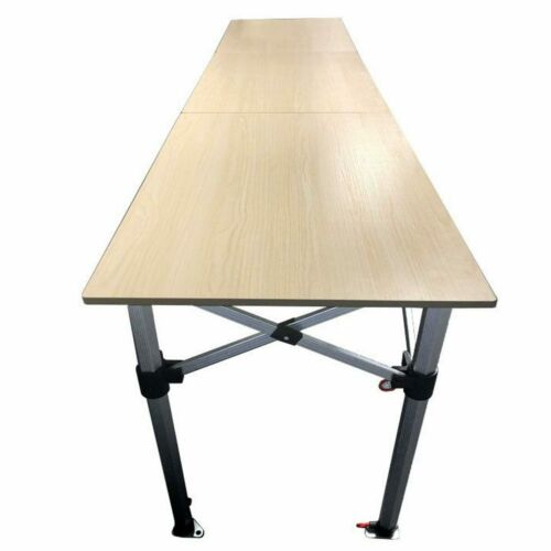 10/' Folding Table  Adjustable Height Party Event Trade Show Display Counter