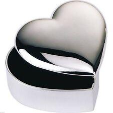 Beautiful Silver Plated Heart Shaped Trinket Box