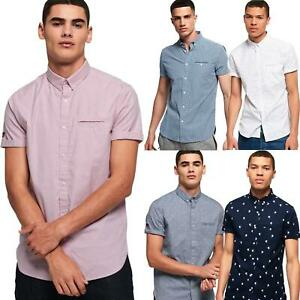Camisa-de-manga-corta-Premium-Superdry-de-Chorro-de-la-Universidad