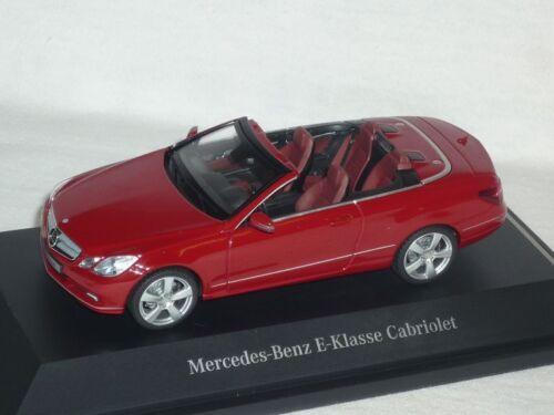 Mercedes-benz clase e convertible fuego Opal rojo a207 antes Facelift 2009-2013 1//43 S..