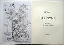 GEORGES BRAQUE HESIOD THEOGONIE DLM MAEGHT 1954 THEOGONY Θεογονία HESIODE