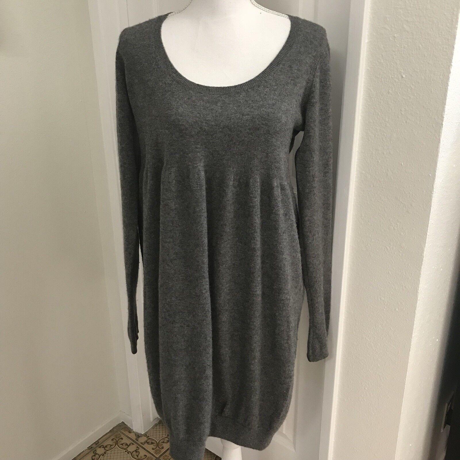 Vince Cashmere Cashmere Cashmere Sweater Dress Sz Lg a67757