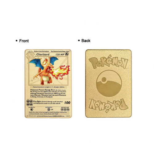 Gold Lugia Charizard Card Pokemon CUSTOM Metal Super Dragon Ball Z Card