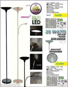 Pie-Salon-LED-25w-Luz-Blanca-4200k-NIKEL-BLANCO-NEGRO-con-o-sin-lector-despacho