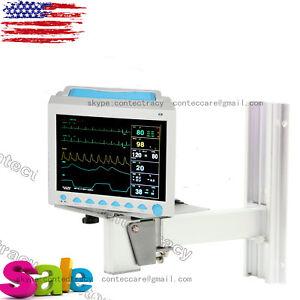 Details about CONTEC ICU Vital Signs Patient Monitor ECG NIBP Spo2 PR TEMP  wall mount bracket