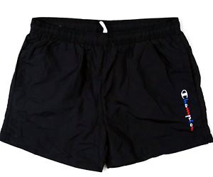 Champion-Swim-Trunks-Black-Beach-Shorts-Size-S-M-L-XL