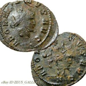 GALLIENUS-RARE-Rev-on-Obv-Overstrike-CENTAUR-Rome-mint-Ancient-Roman-Coin