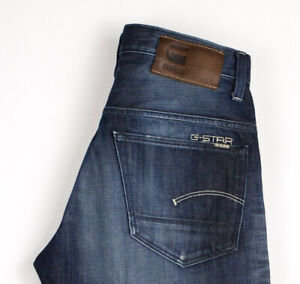 G-Star-Brut-Hommes-3301-Jeans-Jambe-Droite-Taille-W30-L32-ASZ519