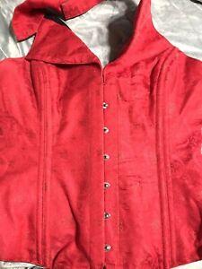 Ms Marthas  Beautiful Red Silk Corset Vest Plus Size. 3 XL