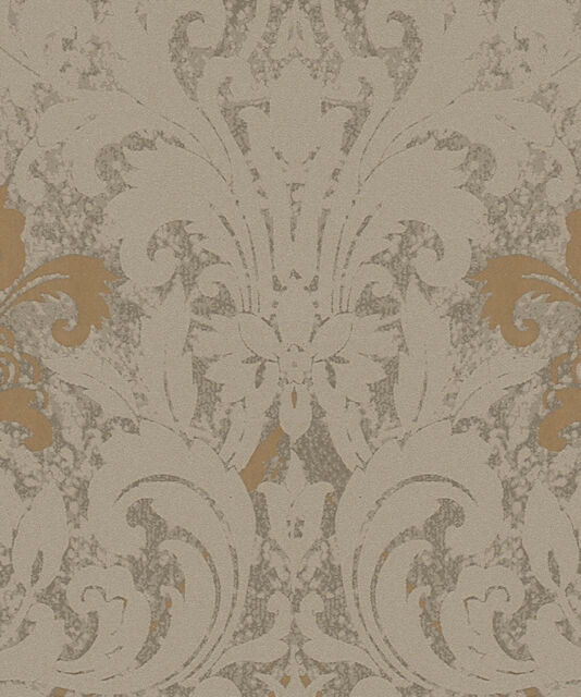 Marburg Tapete La Veneziana   Ornament Baroque Gold Brown Fleece Wallpaper