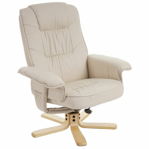 Relaxsessel Fernsehsessel Sessel ohne Hocker H56 Kunstleder creme