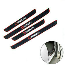 4pcs Black Rubber Car Door Scuff Sill Cover Panel Step Protector For Nissan Fits 2011 Nissan Frontier