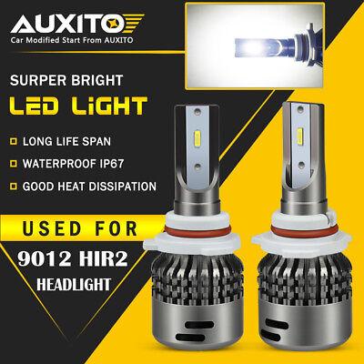2X AUXITO LED 9012 HIR2 Headlight Bulb Combo High Low Beam 6000K CSP Kit EOA