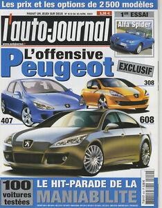 L-039-AUTO-JOURNAL-n-619-30-04-2003-SEAT-CUPRA-GT-JAGUAR-XJ8-AUDI-A8-206-CC-BMW760