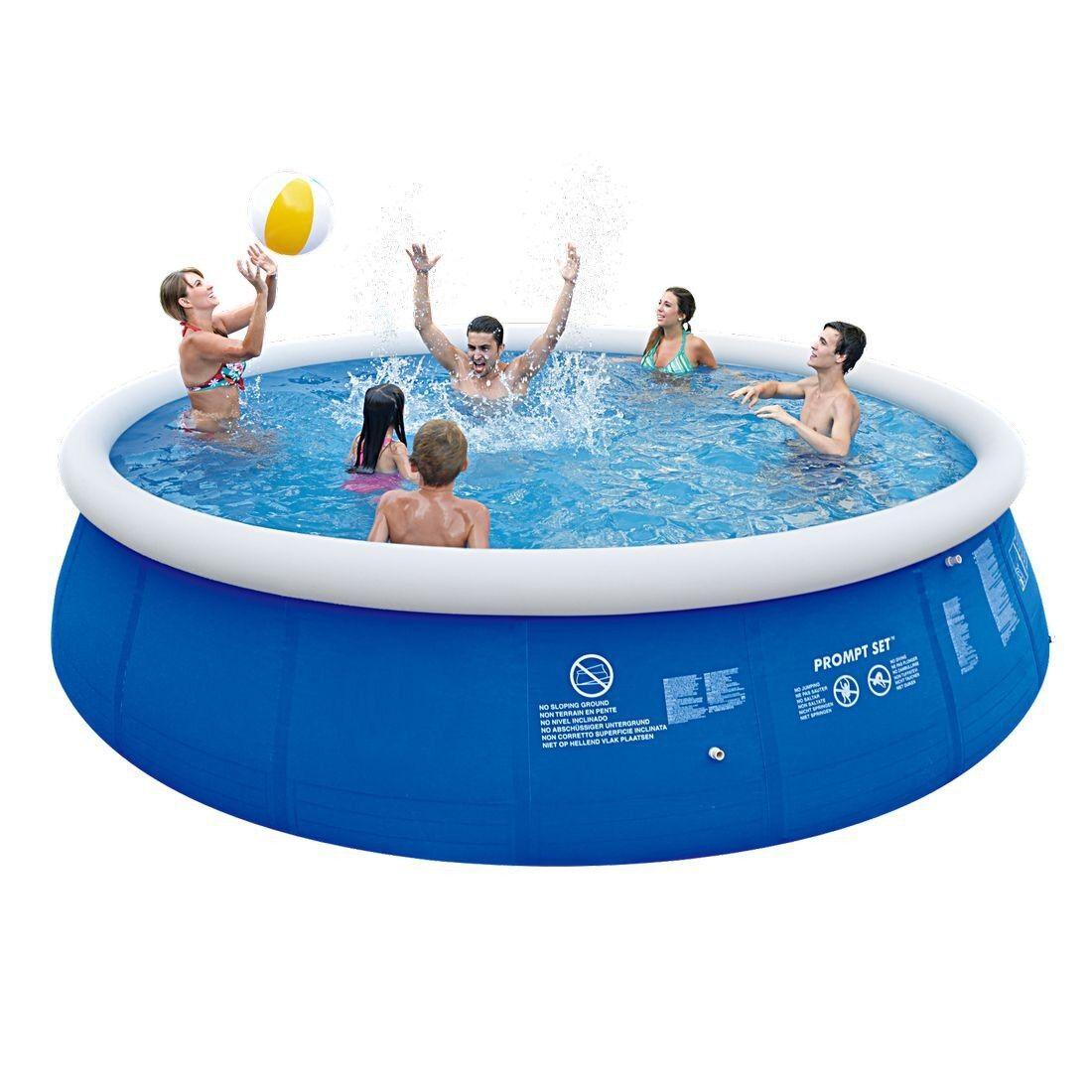 Marin Blau Pool Set ø 540x122 Schwimmbecken + + + Pumpe Leiter Abdeck- Bodenplane 832294