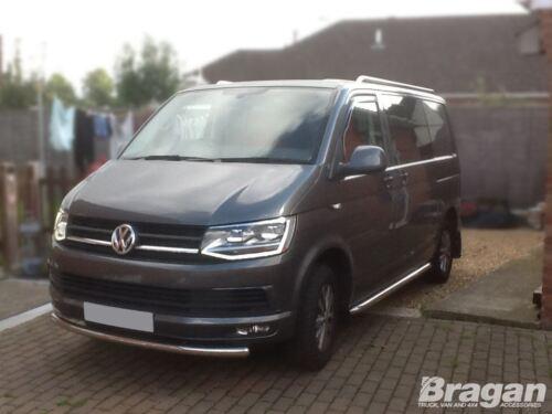 Per adattarsi 04-15 VW Volkswagen Transporter T5 CARAVELLE SPOILER PARAURTI ANTERIORE BARRA