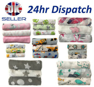✅NEW Cotton Large Muslin Squares 80x70cm Baby Cloth Reusable Nappy Bibs Wipes✅UK