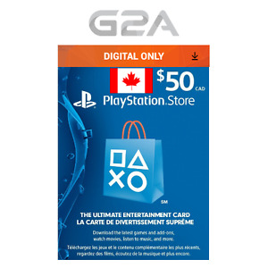 Playstation Network 50 CAD Code - PSN 50 CAD Dollar - PS4 PS3 PSP -Store Card CA