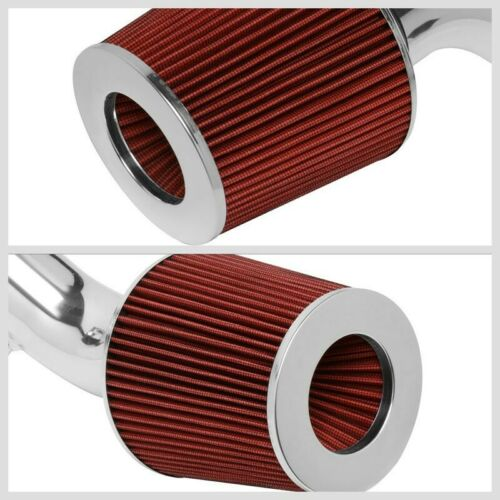 Polish Pipe Red Dry Cone Filter Shortram Air Intake Kit For 02-06 Acura RSX
