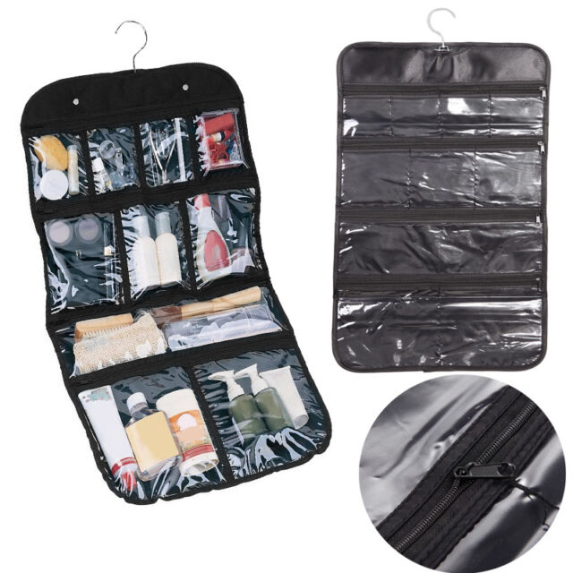 Portable Travel Wash Organizer Case Cosmetic Makeup Zipper Bathroom Hanging Bags