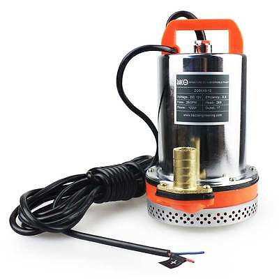 12V Farm & Ranch Solar Powered Submersible DC Water Well Pump 23FT Lift