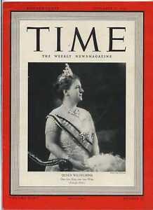 Time-Magazine-Nov-27-1939-Queen-Wilhelmina
