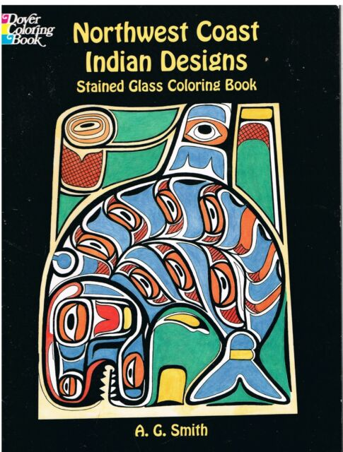 Northwest Coast Indian Designs Stained Glass Coloring Book (Dover Pictorial