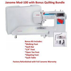 Janome-Mod-100-Computerized-Sewing-Machine-with-Bonus-Quilt-Kit-Refurbished