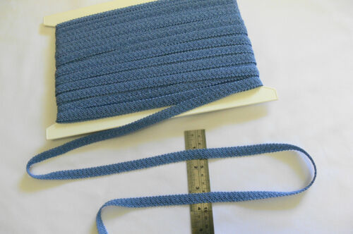 POLYESTER BRAID 12mm Wide 6 colours IVORY BLUE ROSE Various Lengths MultiList B5