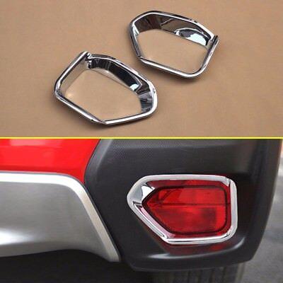 Chrome Fog Light Cover For 2018 Subaru Crosstrek XV Front Lamp Overlay