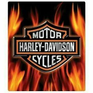 Harley Davidson Flame Logo Die Cut Embossed Tin Sign