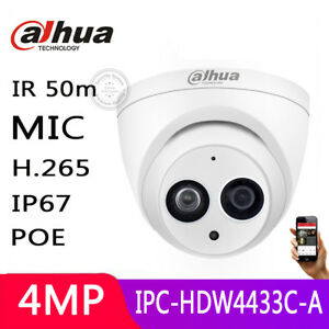 Dahua-4MP-POE-IPC-HDW4433C-A-HD-IP-Built-in-MIC-H-265-IR-2-8mm-CCTV-Dome-Camera
